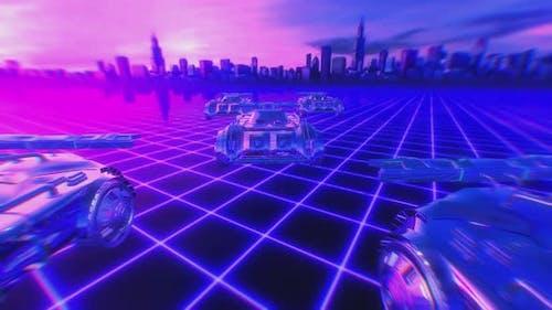 4K Retrofuturistic cars