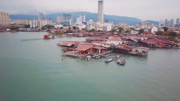 Thumbnail for Penang Chew Jetty Drone Shot