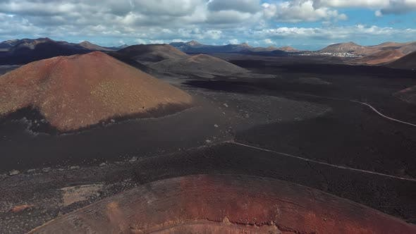Thumbnail for Aerial of Timanfaya, Lanzarote, Canary Islands