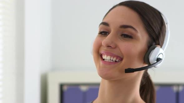 Woman customer service