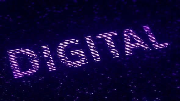 Thumbnail for Purple DIGITAL Word Made with Luminescent Particles