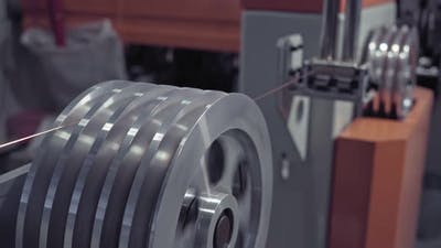 Copper Cable, a Coil of Copper Cable. Copper Cable Manufacturing