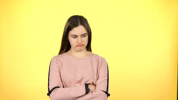 Juvenile Who Shows Diffrent Emotion on Yellow Background