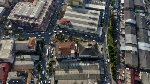 Drone Shot of Busy Streets in Istanbul, Istanbul, Turkey