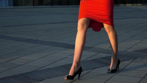 Thumbnail for Sexy Businesswoman Walking