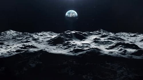 Large Shadow Passing Across the Surface of the Moon and Heading to Earth
