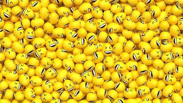 Oster-Emoji-Übergang-Lachen HD