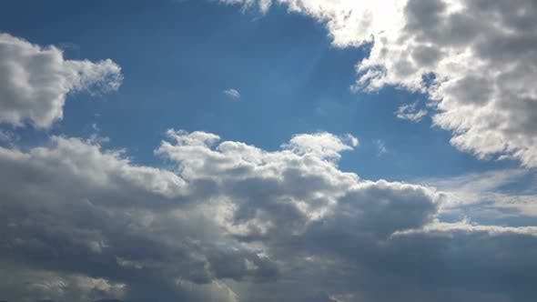 Softly Grey Clouds And Blue Sunny Sky 4