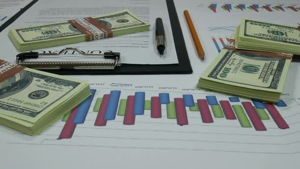 Thumbnail for Business Contract And Dollars In The Office Of The Company