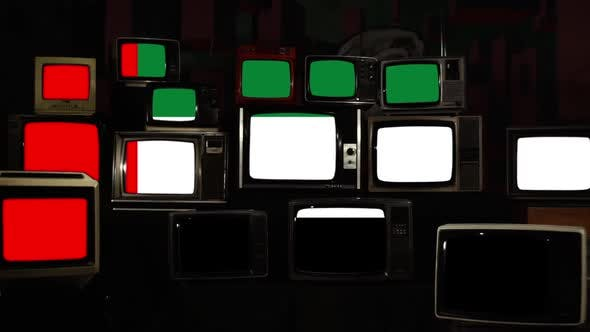 Thumbnail for Flag of the United Arab Emirates and Retro TVs.