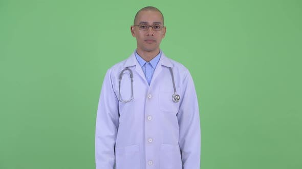 Thumbnail for Happy Bald Multi Ethnic Man Doctor Smiling