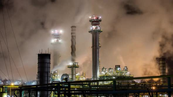 Thumbnail for Petrochemical Plant At Night