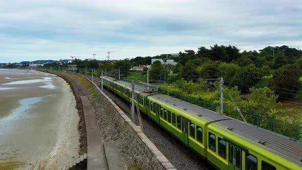 Train passing irish station