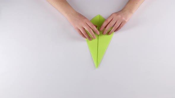 Thumbnail for Origami. White. Time Lapse