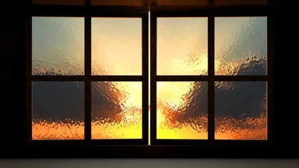 Cover Image for Sunset View From the Opened Window