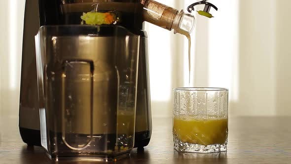 Fresh Celery Juice Pours of Juicers
