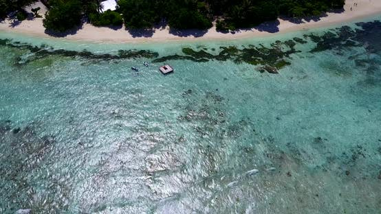 Thumbnail for Beautiful aerial abstract view of a white paradise beach and aqua blue water background