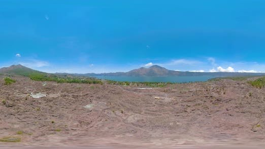 Thumbnail for Mountain Landscape with Lake Vr360 Batur, Agung. Bali,Indonesia