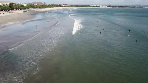 Sea and Beginner Surfers
