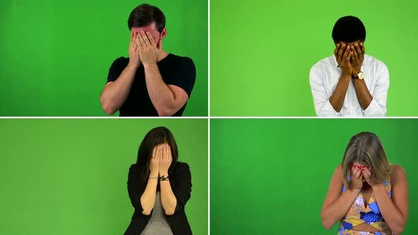 Thumbnail for Compilation (Montage) - People Crying - Green Screen