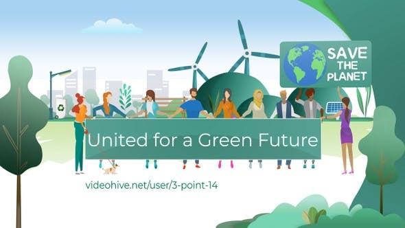 People Protest for Greener Earth and Renewable Energy Sources