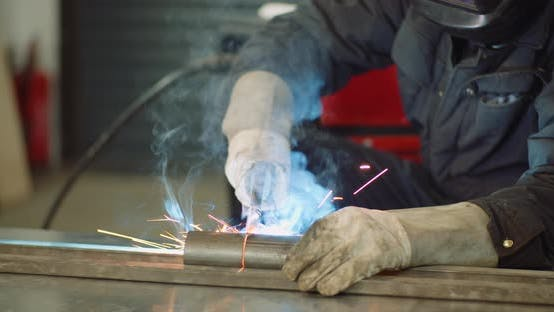 Thumbnail for Industry - Welder Welding Steel Construction
