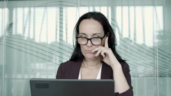 Thumbnail for Positive Businesswoman Wearing Glasses