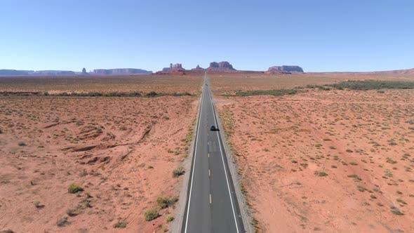 Thumbnail for American Southwest Aerial Highway in Desert