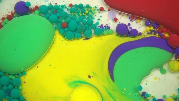 Paint Blobs On Oil