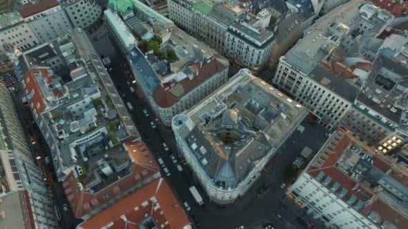 Aerial of Neuer Markt and Stephansplatz