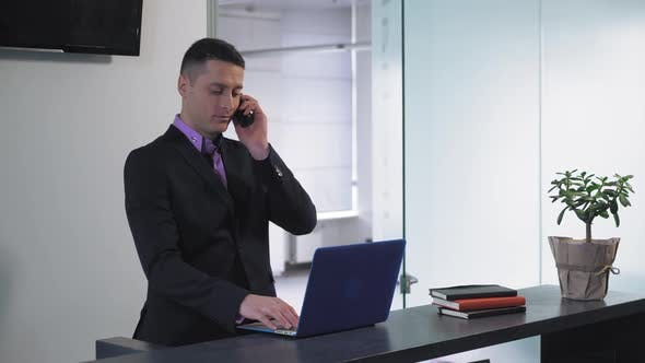 Male Secretary at Work