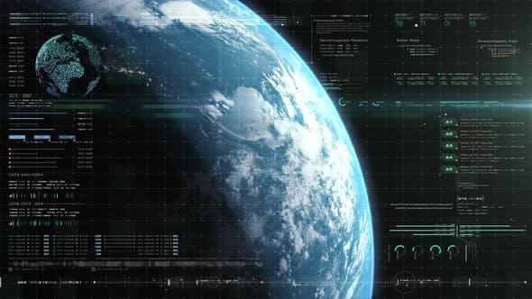Futuristic Holographic Earth Head Up Display 07