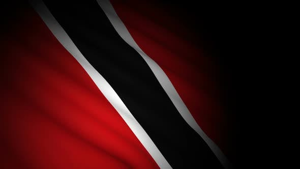 Cover Image for Trinidad Tobago Flag Blowing in Wind
