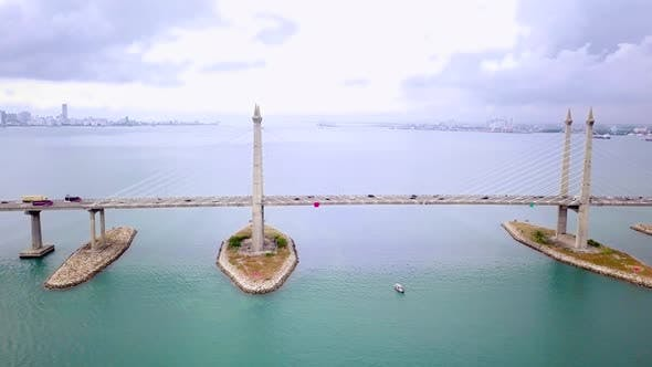 Thumbnail for Penang Bridge Drone Shot
