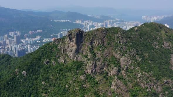 Lion rock mountain in Hong Kong