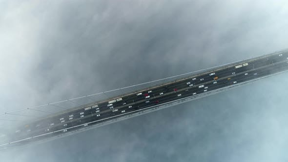 Thumbnail for View of Car Traffic on Istanbul Bosphorus Bridge