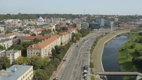 Kaunas Streets Near Neman River, Lithuania
