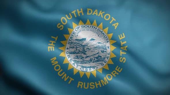South Dakota State Flag Front HD