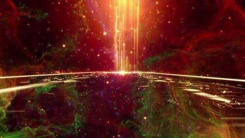 Space Bridge-Hintergrund-