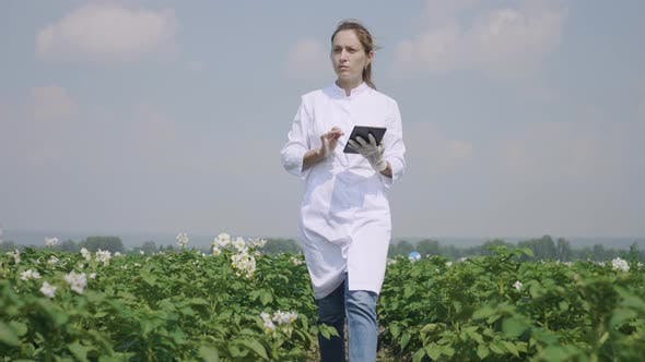 Thumbnail for Agronomist With Tablet Outdoors