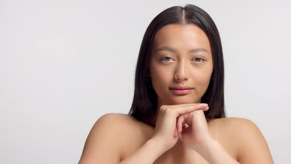 Thumbnail for Mixed Race Asian Model in Studio Beauty Shoot
