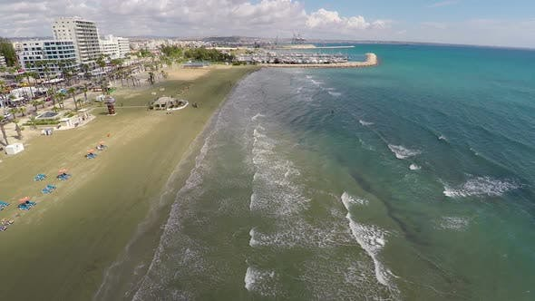 Cover Image for Fantastic Aerial View of Cyprus Resort at Mediterranean Seaside, Summer Vacation