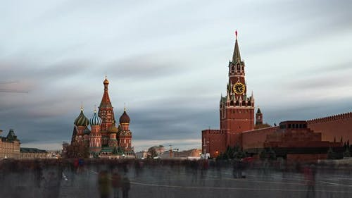 Evening Timelapse of Red Square, Moscow