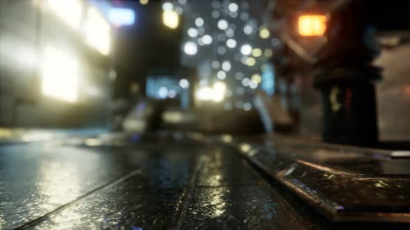 Thumbnail for City Streets In The Rain At Night