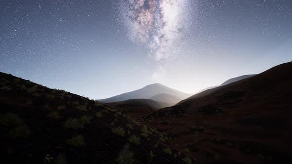 Thumbnail for Milky Way Stars Above Desert Mountains