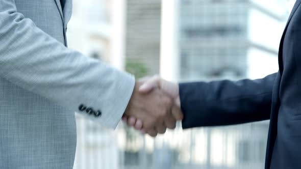 Thumbnail for People Shaking Hands Outdoor