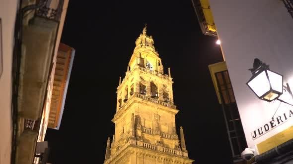 Torre Campanario at night