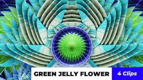 Grüne Gelee-Blume