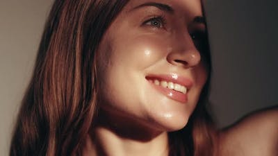 Beauty Model Skincare Wellness Woman Glossy Makeup
