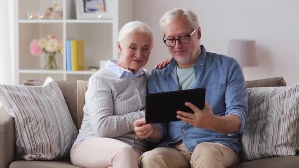 Thumbnail for Senior Couple Having Video Call on Tablet Pc